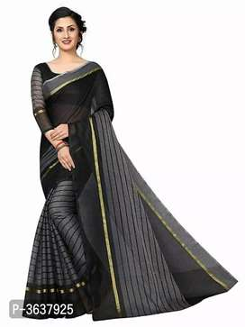 Women's Beautiful Cotton Saree we send by courier only