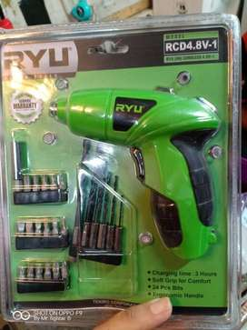 CordlessScrewdriver/bor obeng batere USB Ryu tekiro RCD 4.8V-1 ID59