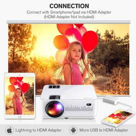 200 INCH Android WiFi Projector Watch TV,MOVIES On 4K Big Screen