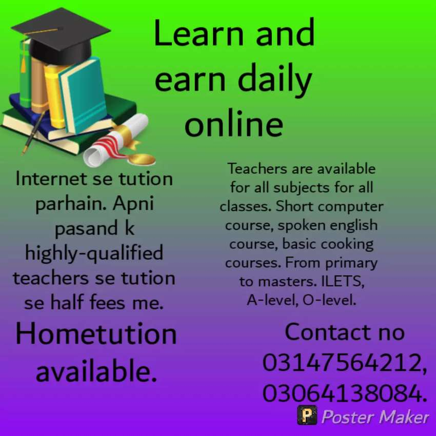 Online academy, one day trial free. 0