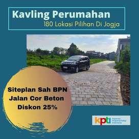 PROMO DISKON 25% Kapling Tanah Dekat New Wates