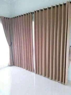 Gorden jendela berbagai jenis kain