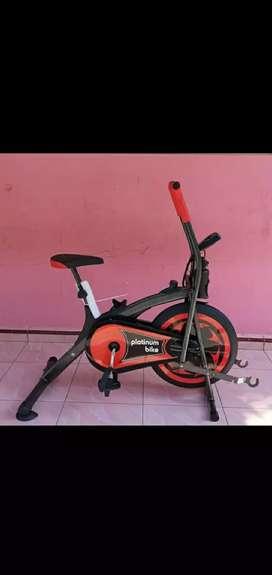 Alat fitnes sepeda statis platinum bike promo