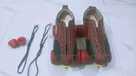 Leather shoes skates