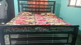 Iron bed with foam and dressingtable
