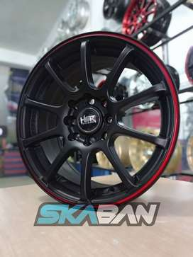 hsr wheel tipe misaki ring 15 h8(114,3/100) black red