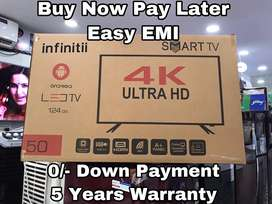 "Infinitii 50"" UHD 4K Smart Android Led Tv - 5 Years Warranty"