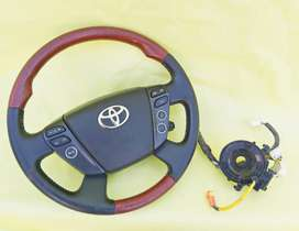 Toyota Wooden Multimedia Steering Wheel With Spiral
