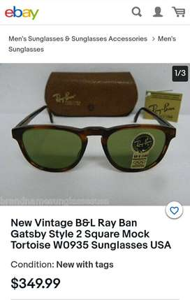 Ray Ban B&L Gatsby Style 2 1990s Vintage Luxury Sunglasses (Made USA)L