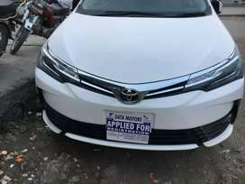 Toyota Corolla Altis Grande and all others cars are  on installments