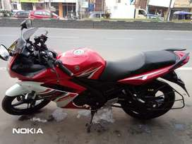 Yamaha R15s , red and while color, Rs. 110000
