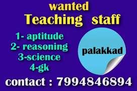 Wanted teaching staff
