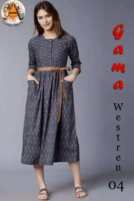 Heavy crepe western wear