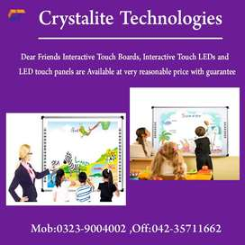 Interactive touch board 85inches,102inches wid local one year warranty