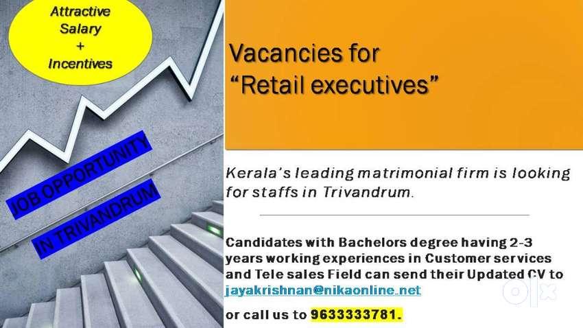 Job vacancy for Tele sales / Retail care executive