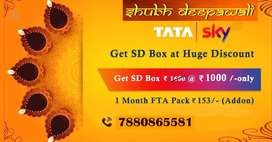 TATA SKY SHUBH DEEPAWALI SD BOX Sirf Rs 1000 mein-TATASKY AIRTEL DISH