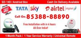 Tata Sky SD/HD/Andriod Box, TataSky Dishtv Airtel Digitaltv Now Offer!