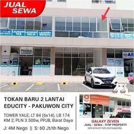 JUAL/SEWA TOKAN BARU 2 LANTAI SIAP PAKAI APARTEMEN EDUCITY TOWER YALE