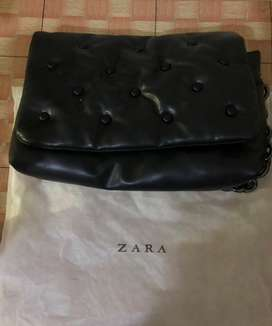 Zara original pluffy quilted ring tote