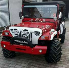 New look Red modified Willy jeep