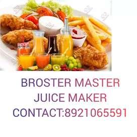 I am experenced juice maker, broster master i need a job its urgent