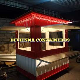 Booth container usaha Container box coffe hits semi container custom.