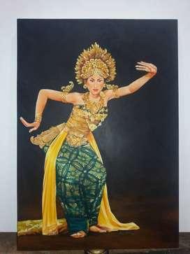 Bali dancer, 90x70cm, aoc,2017