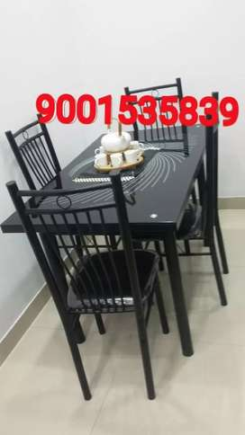 Newww four seater dining table with chair dinner table