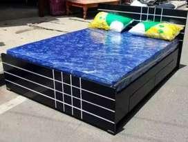 New 5*6 queen storage double cot 7499 mattress 3500