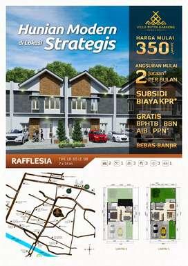 Perumahan konsep villa strategis di kota gowa dengan suasana yang asri