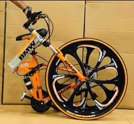 Foldable cycle with 21 gears