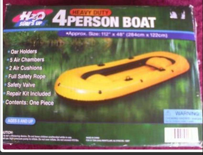"""AWESOME H2O HEAVY DUTY 4-PERSON BOAT INFLATABLE BOAT 112"""" X 48"""" BRAND 0"""