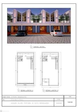 Ruko 2 lantai di Hunian Islami De Prima Bondowoso