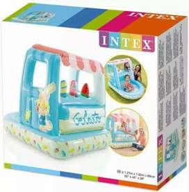 "INTEX 48672 (size:50""/40""/39"") icecream inflatable play house."