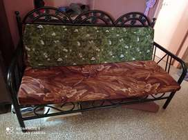 Good condition iron sofa with 2 chairs