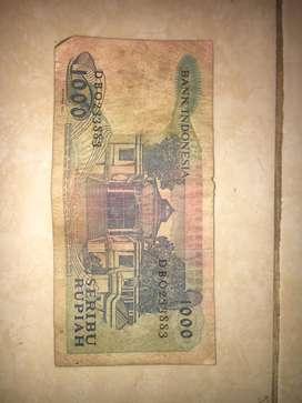 Uang Seribu Rupiah tahun 1987