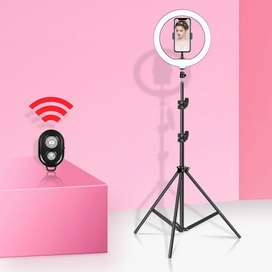 26 CM RING Light With 2.1 Meter long Height Tripod Stand