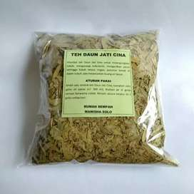 Teh daun jati cina herbal curah kemasan 250gram herbal pelangsing