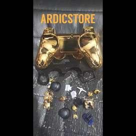 Case Casing Hardcase GOLD Emas Joystik Stik PS3 Fullset Wireless