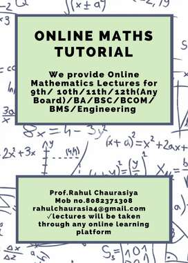 Online maths Tution/Coaching