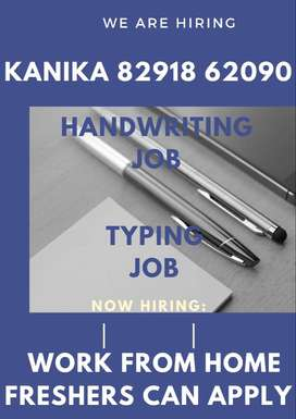 HANDWRITING AND OFFLINE TYPING JOB (WORK FROM HOME) Part time job