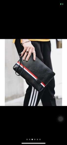 Handbag pria / wanita kulit