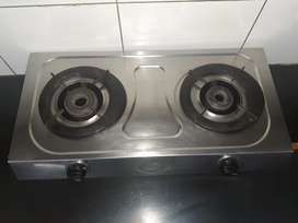Stainless Steel Gas Stove - 2 Burners