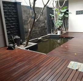 Decking kolam/decking taman/decking kayu/pagar kayu/kisi-kisi/partisi