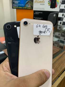 I phone 8 64 gb space gray,gold (fixx price)