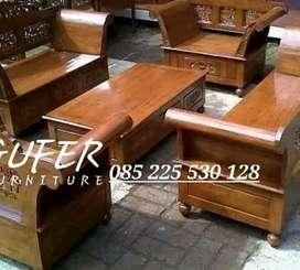 free ongkir pembayaran cod kursi tamu kayu jati asli