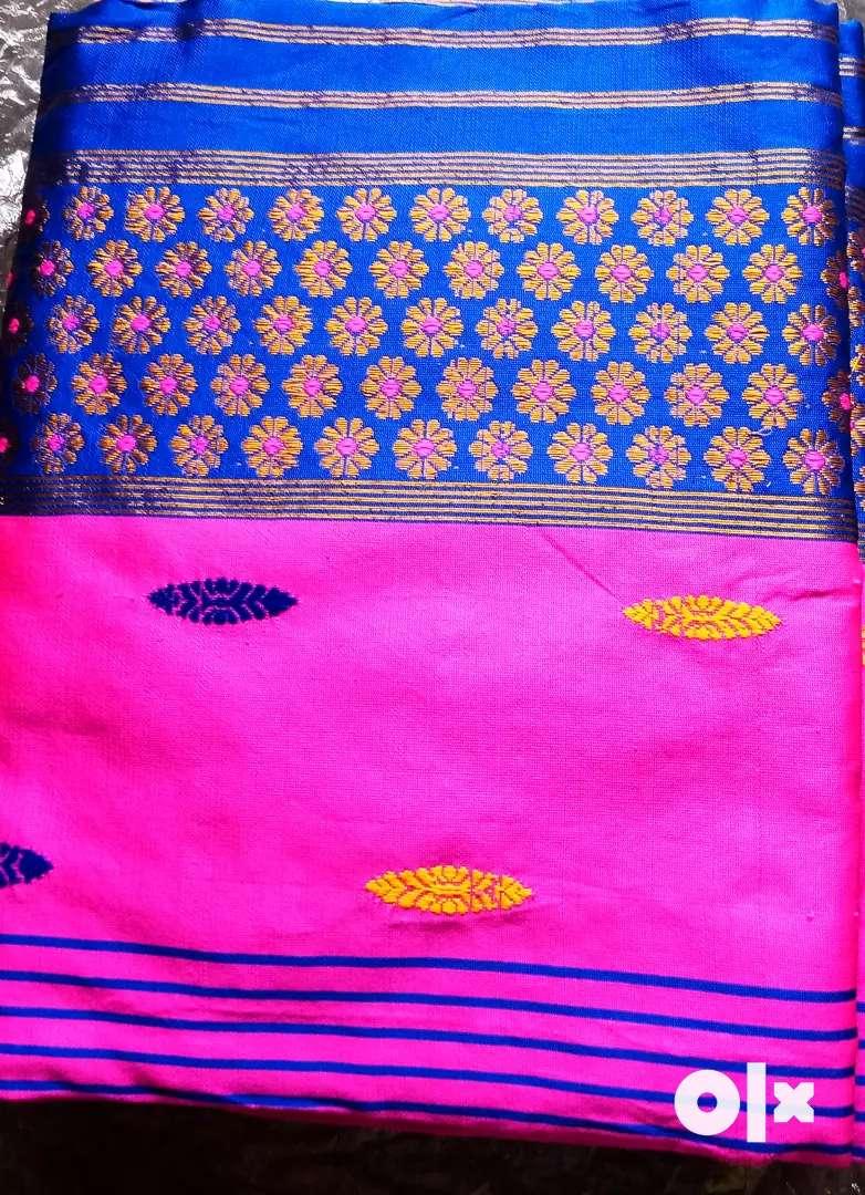 Ludhian Paat Mekhela Chadar Assamese Dress with blouse piece 0