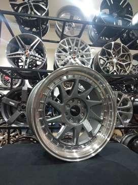 Credit velg racing ring17 HSRwheel dobel pcd 8×100-214,3 cicilan 0%