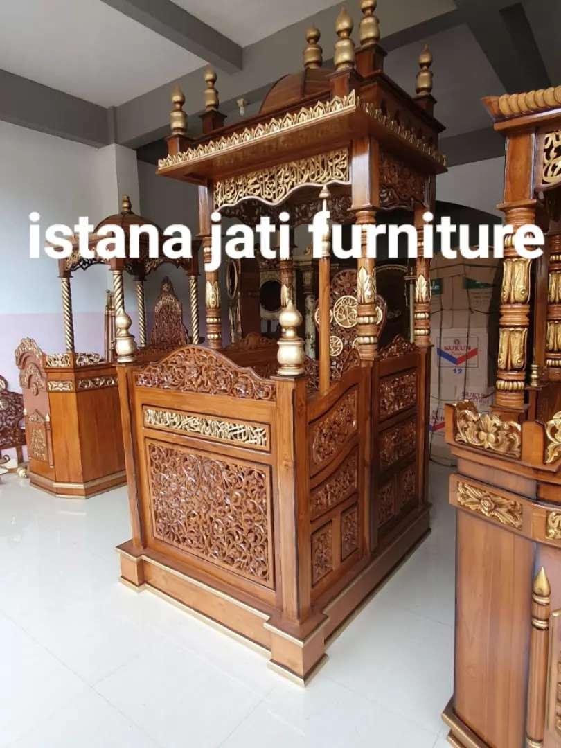 Ready stock Mimbar khutbah masjid podiuum mimbar