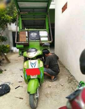 Servis spare part motor roda tiga gerobak panggilan